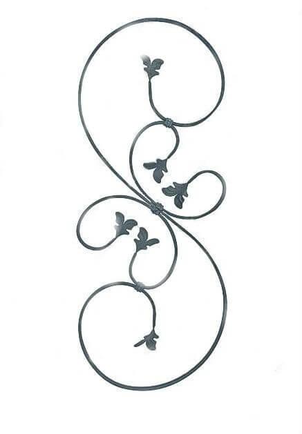 Veliki S sa pereca i listovima, moze da se napravi od razlicitih materijala i po dimenzijama